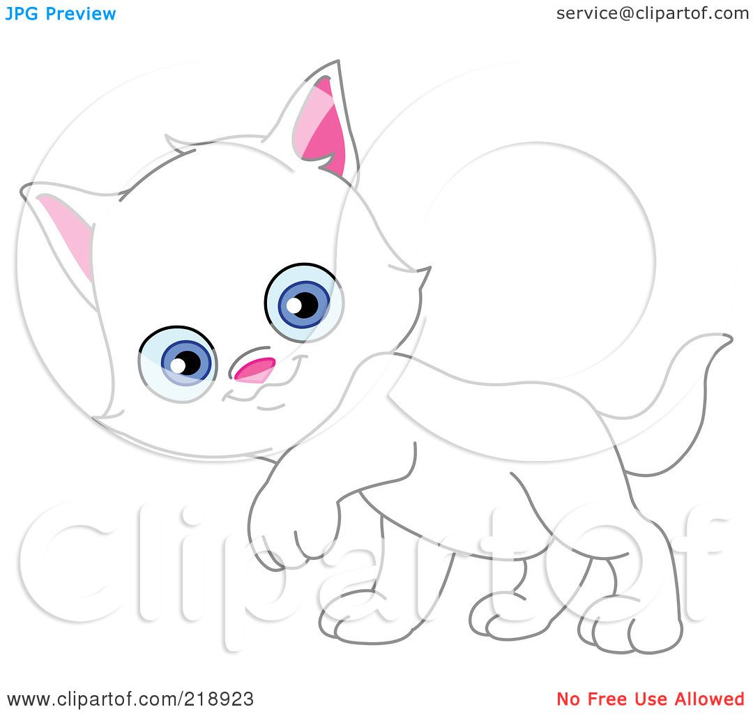 Royalty Free Rf Clipart Illustration Of A Cute White