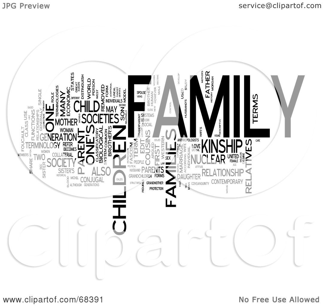 Royalty Free RF Clipart Illustration Of A Family Word
