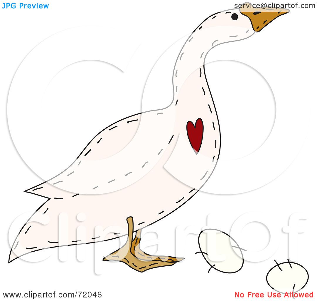 Royalty Free Rf Clipart Illustration Of A Folk Art Goose