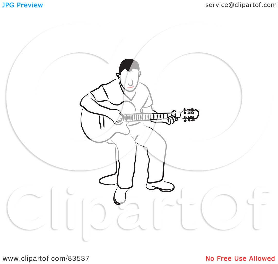 Royalty Free Rf Clipart Illustration Of A Line Drawn Man