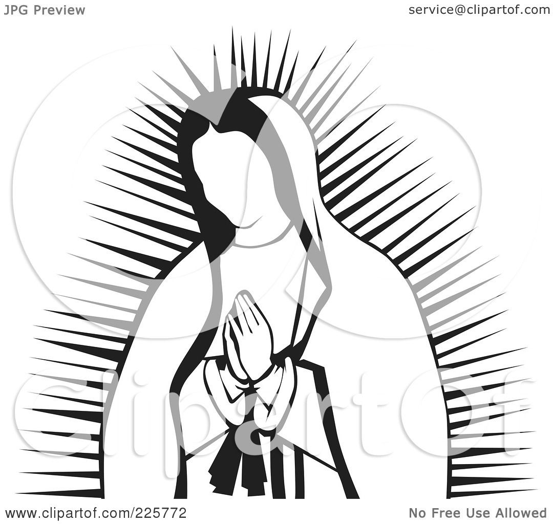 Royalty Free Rf Clipart Illustration Of A Praying Virgin