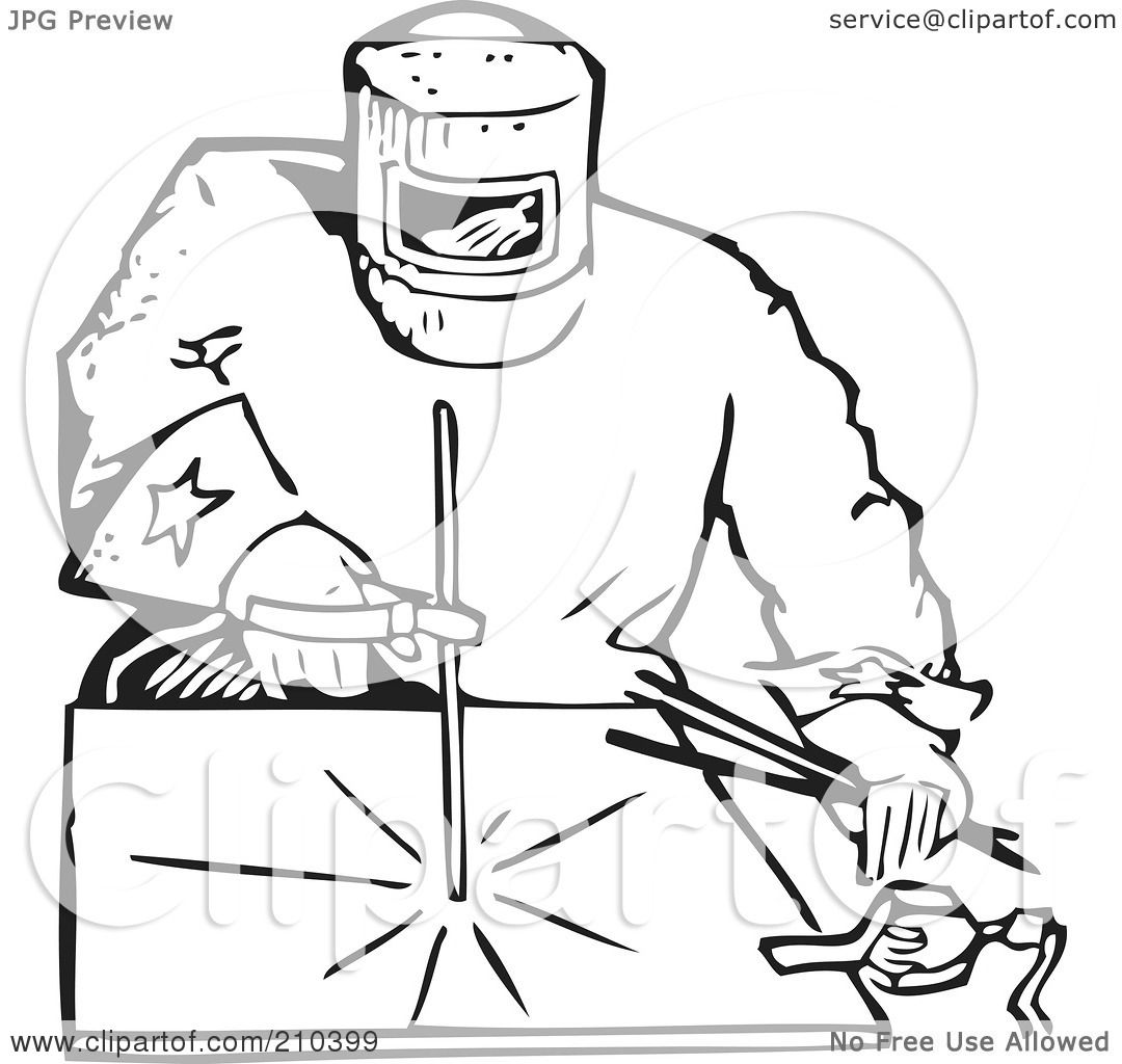 Career Coloring Pages Welder