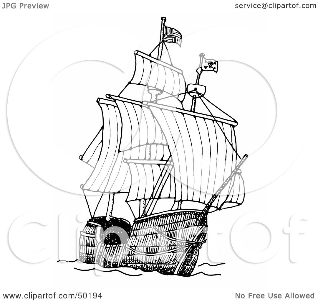 Royalty Free Rf Clipart Illustration Of A Tall Pirate