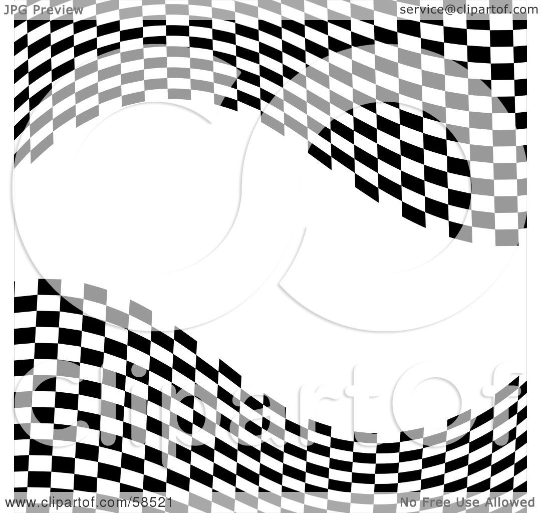Royalty Free Rf Clipart Illustration Of A Waving Race Flag Background On White