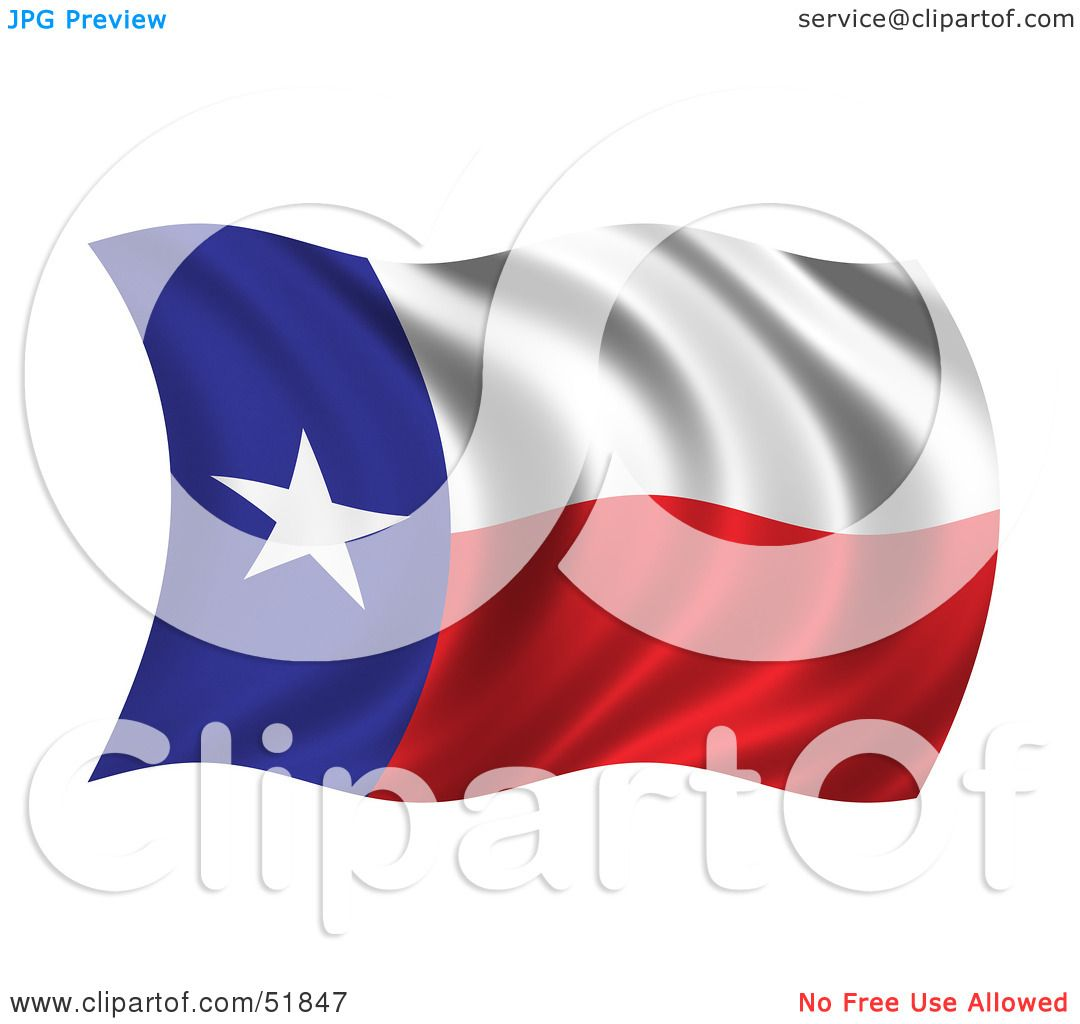 Royalty Free Rf Clipart Illustration Of A Wavy Texas