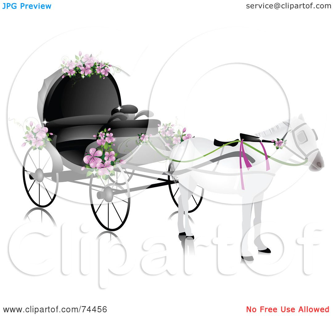 Royalty Free RF Clipart Illustration Of A White Horse