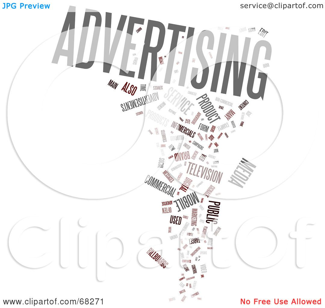 Royalty Free Rf Clipart Illustration Of An Advertising