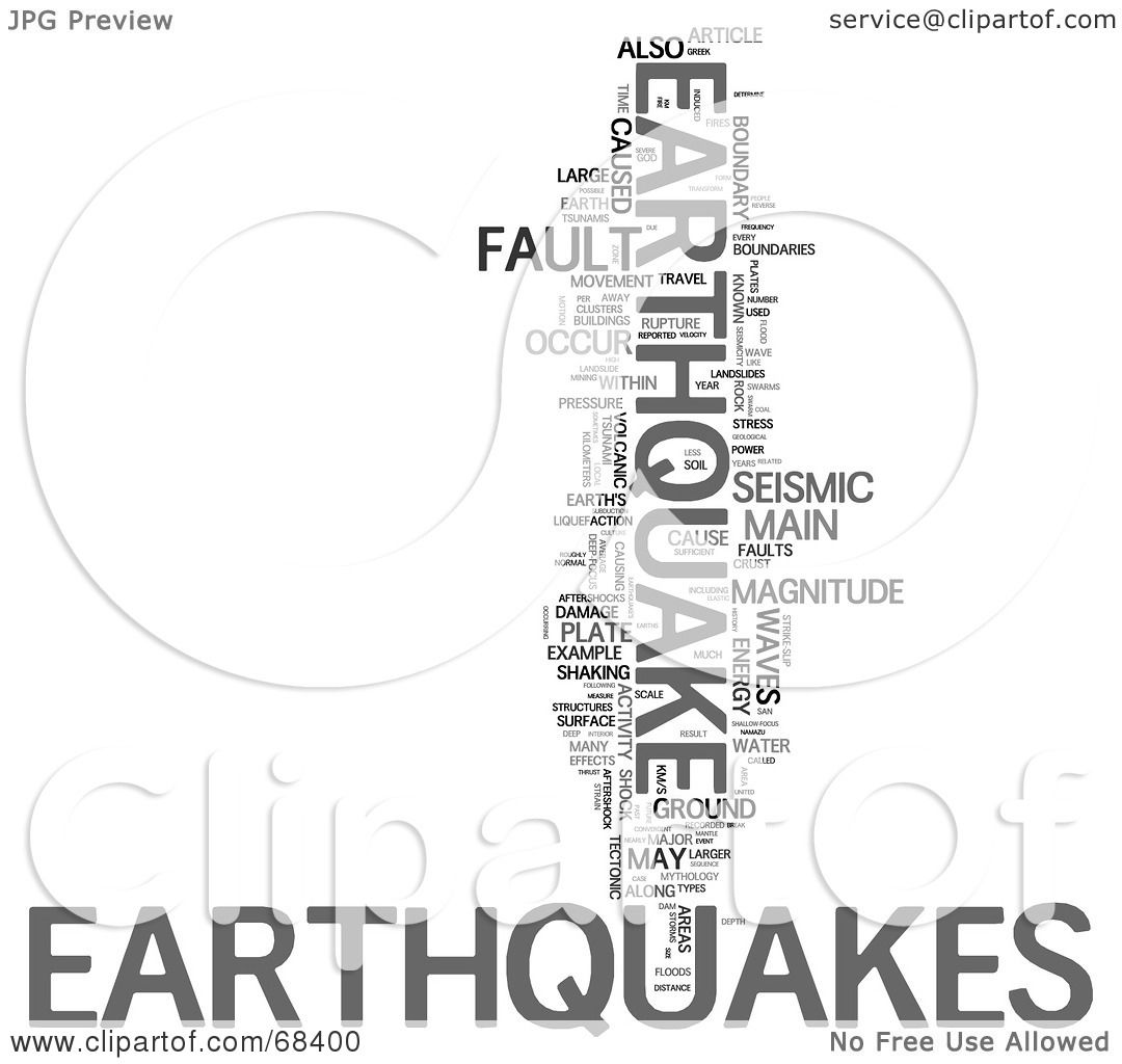 Royalty Free Rf Clipart Illustration Of An Earthquake