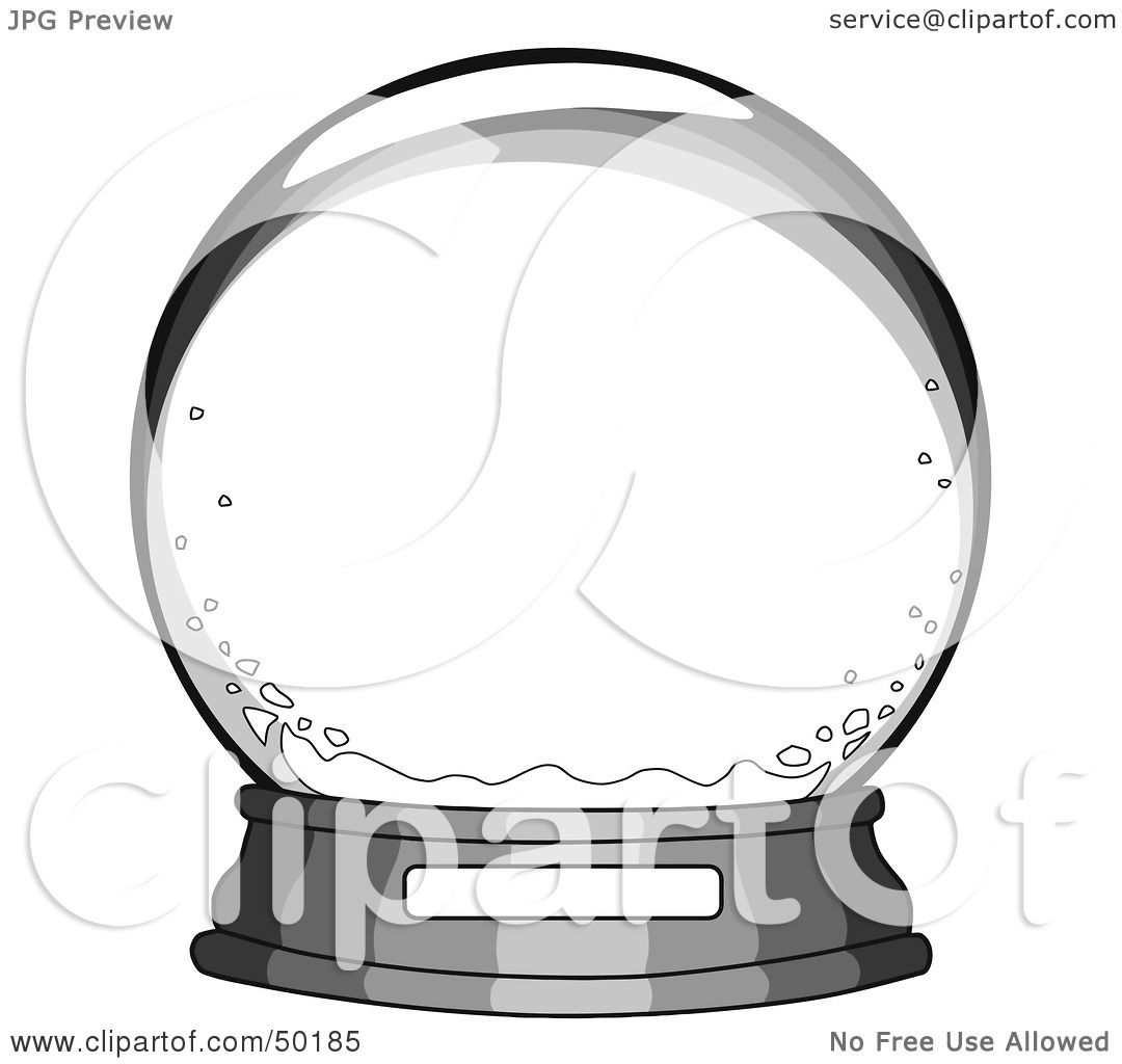 empty snow globe coloring page snow globe digital stamp more