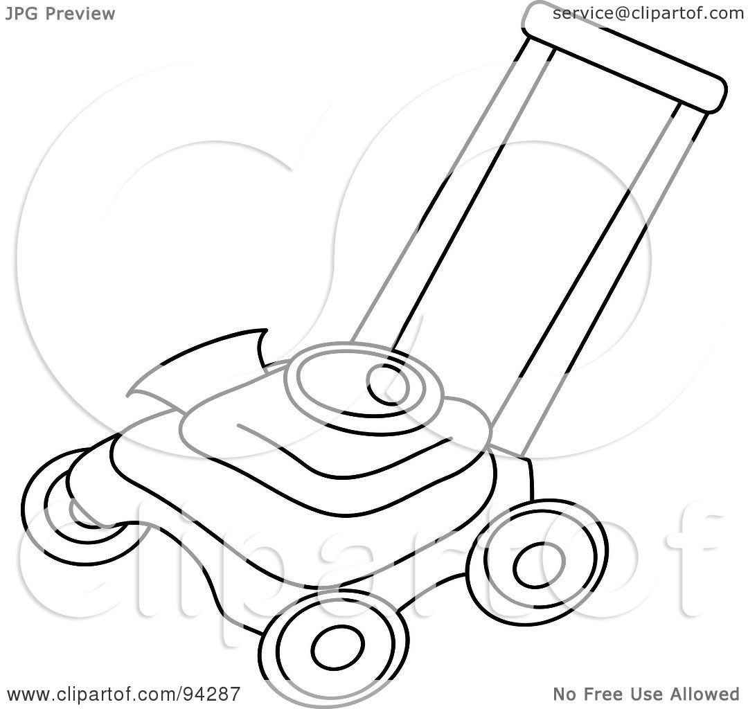 Royalty Free Rf Clipart Illustration Of An Outlined Lawn