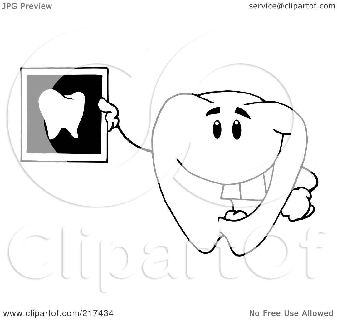 Royalty Free Rf Clipart Illustration Of An Outlinedtooth