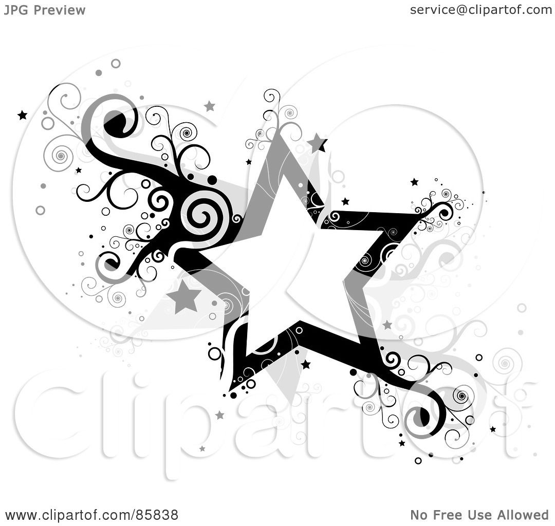 Royalty Free Rf Clipart Illustration Of Black And Gray