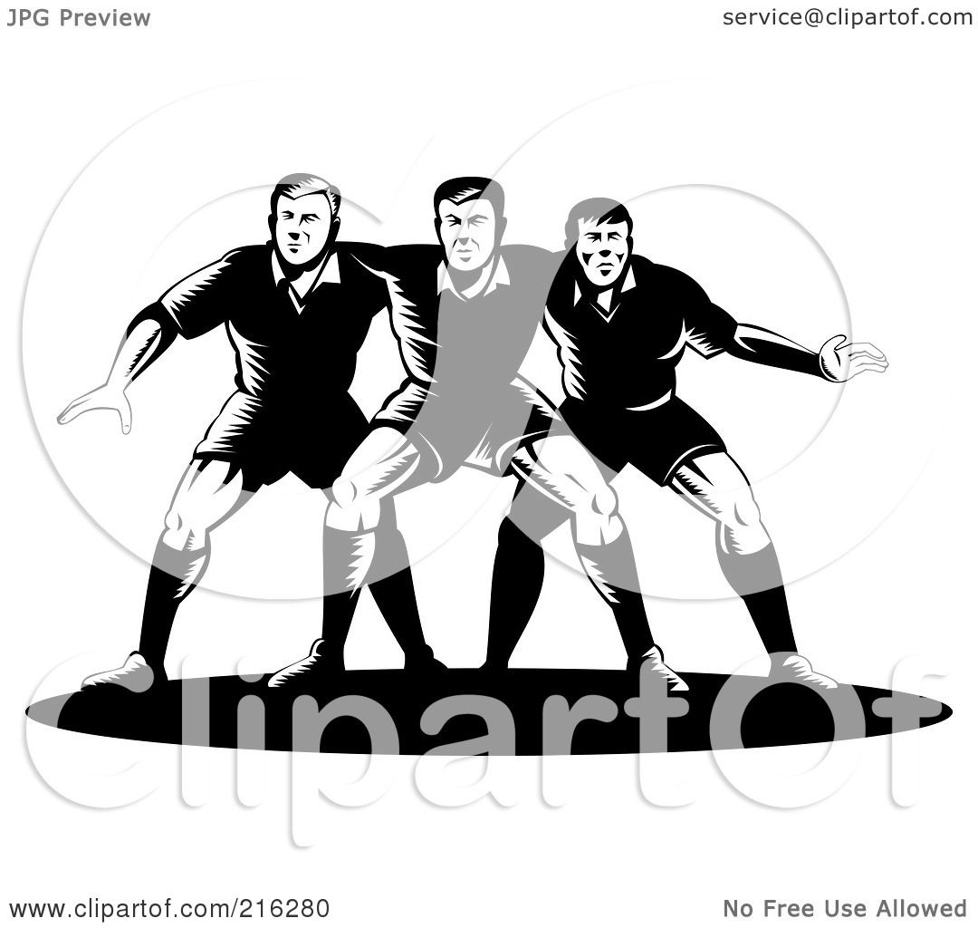 Royalty Free Rf Clipart Illustration Of Rugby Football