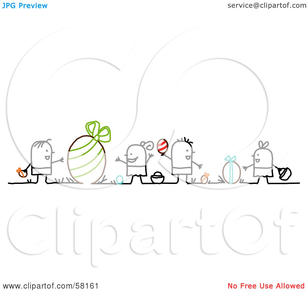 Royalty Free Rf Clipart Illustration Of Stick People