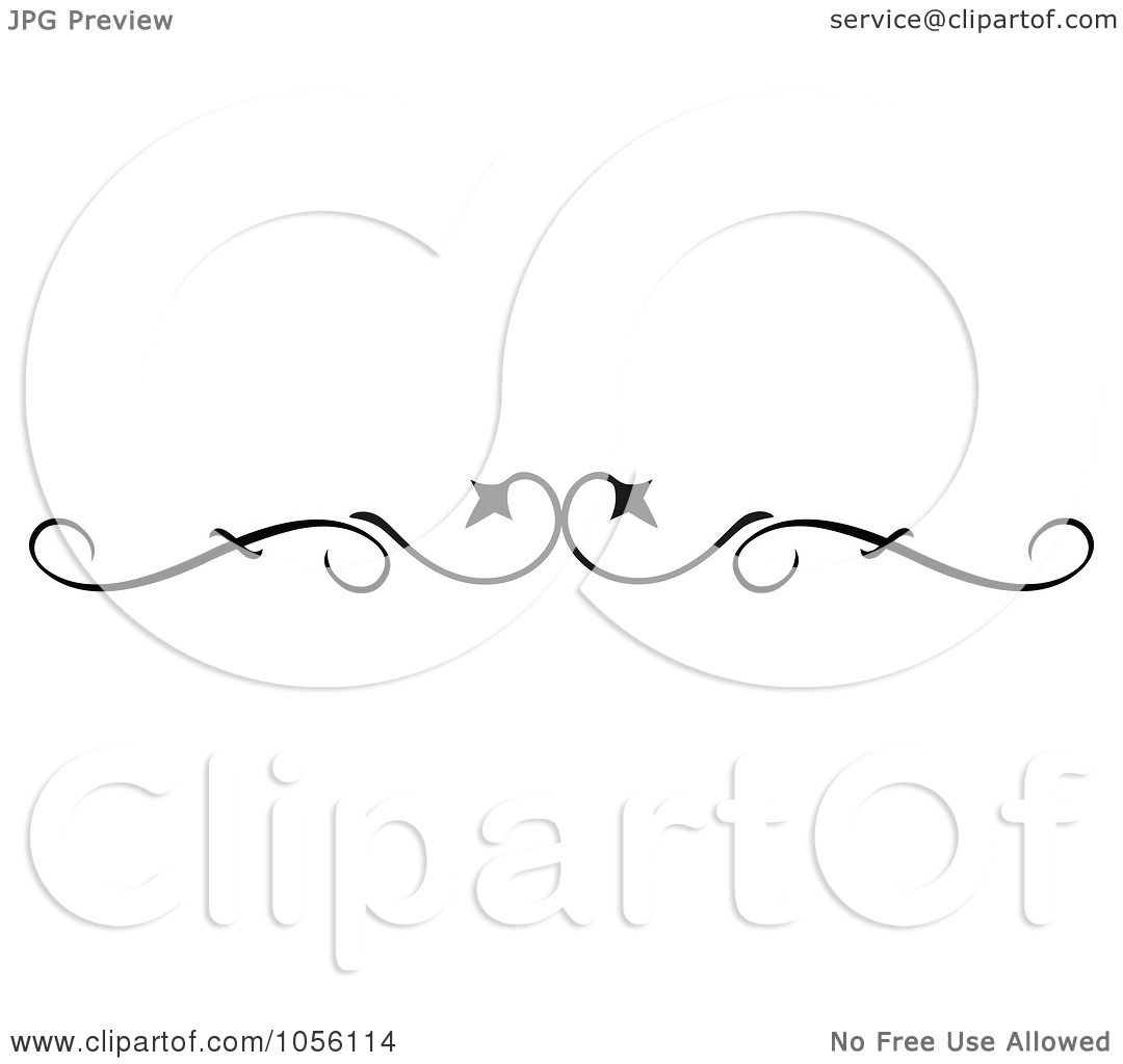 Royalty Free Vector Clip Art Illustration Of A Black And White Page Rule Or Divider Design