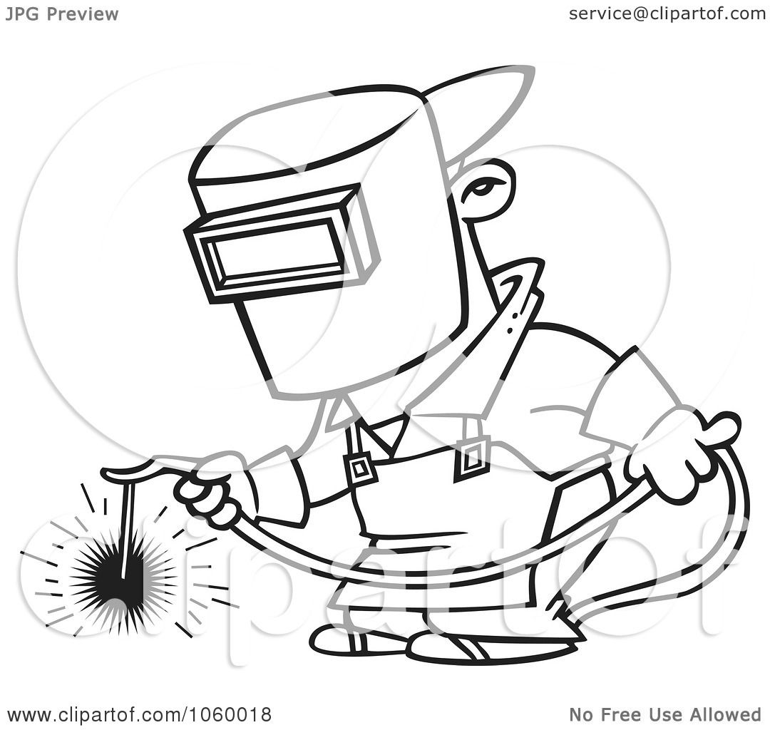 Royalty Free Vector Clip Art Illustration Of A Cartoon Black And White Outline Design Of A