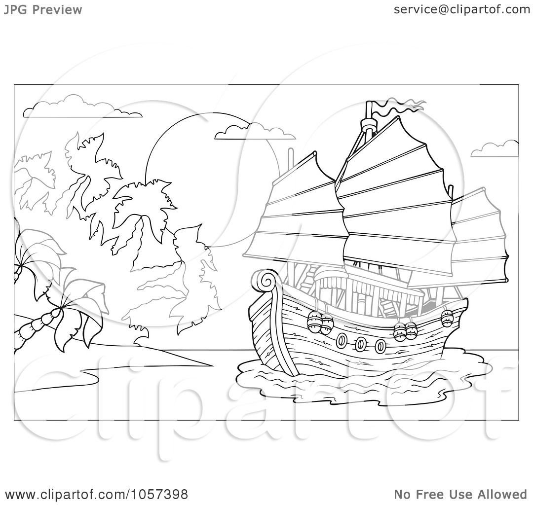 Sunset Drawing Coloring Pages