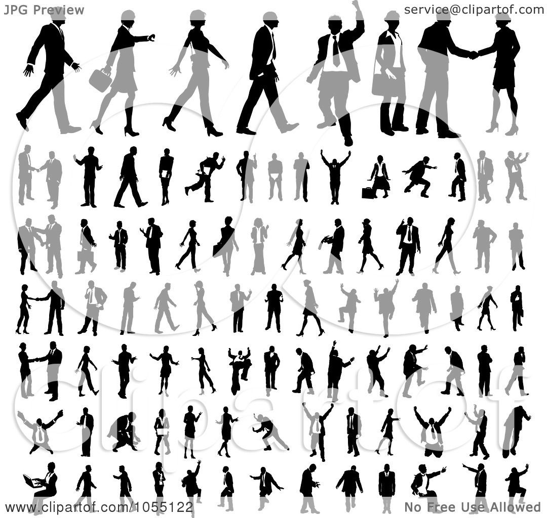 Royalty Free Vector Clip Art Illustration Of A Digital Collage Of Black And White Faceless