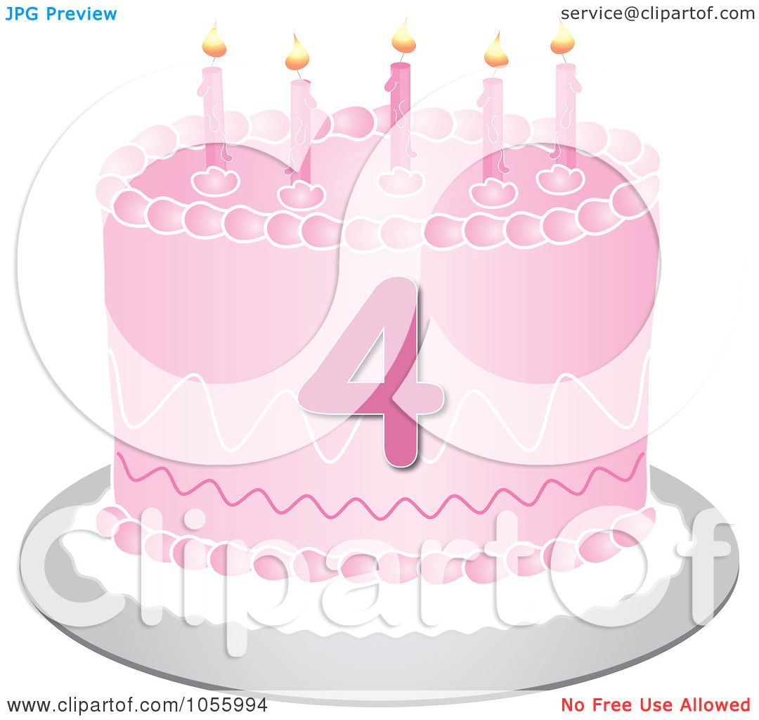 Royalty Free Vector Clip Art Illustration Of A Pink Fourth
