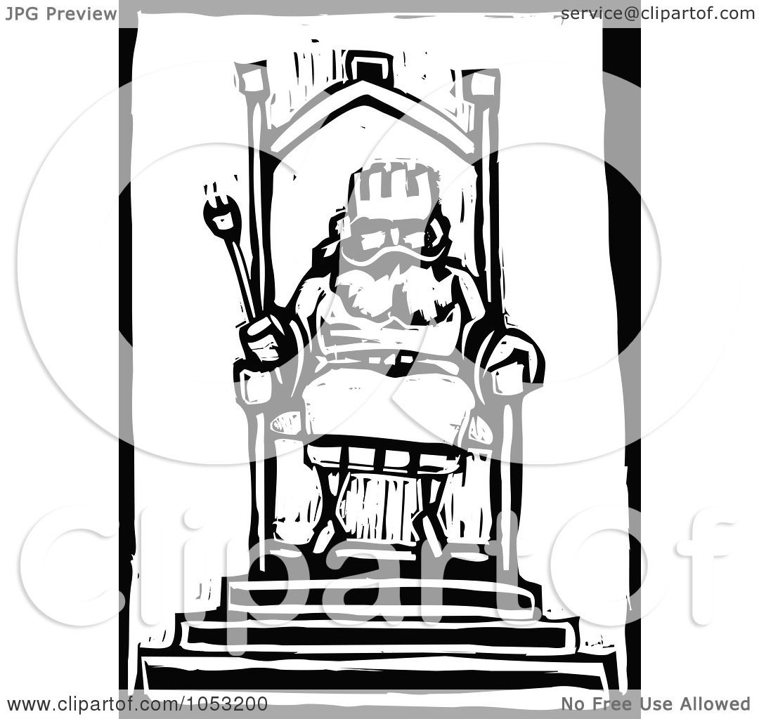 Royalty Free Vector Clipart Illustration Of A Black And