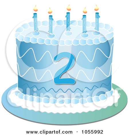 Royalty Free Rf Second Birthday Clipart Illustrations