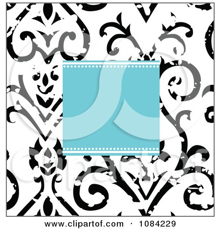 Royalty Free RF Clip Art Illustration Of A Digital Collage Of Vintage Victorian Swirl And Rule