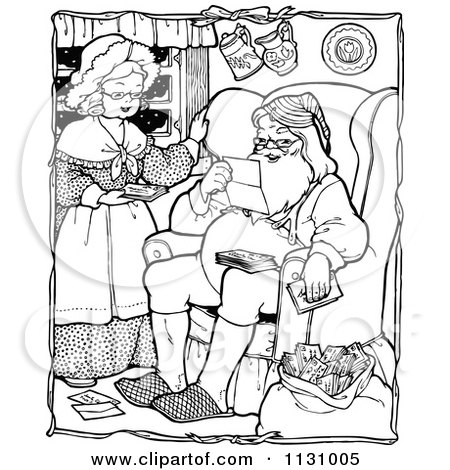 coloring pages of santa and mrs claus coloring pages now