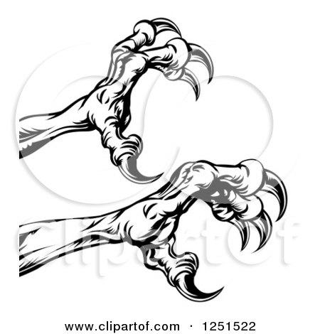 Clipart Of A Black Hawk Beak And Eyes Royalty Free