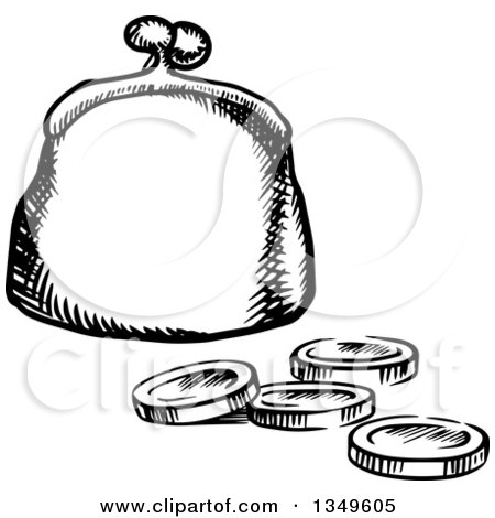 Royalty-Free Vector Clip Art Illustration of a Blue Coin ... (450 x 470 Pixel)