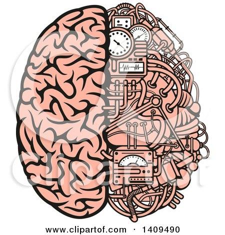 Clipart Half Human Half Circuit Board Brain Royalty Free