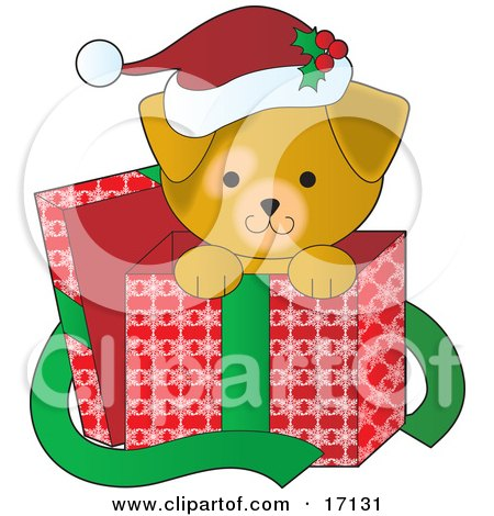 Royalty Free RF Clipart Illustration Of A Brown Puppy