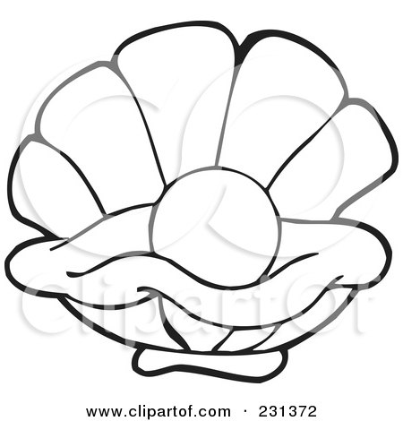 Royalty Free RF Clam Clipart Illustrations Vector