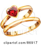 Royalty Free RF Clipart Of Wedding Bands Illustrations