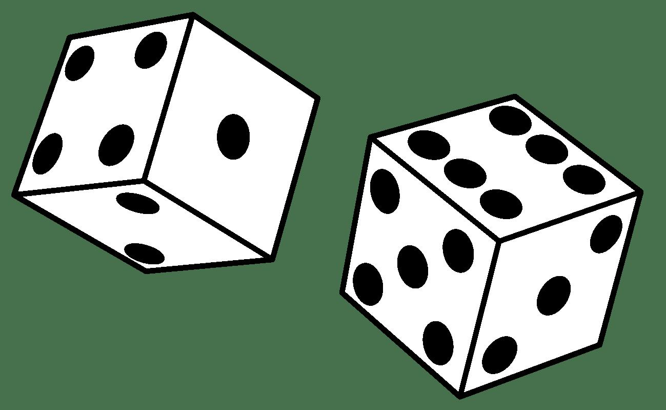 3 Rolling Dice Clipart Panda