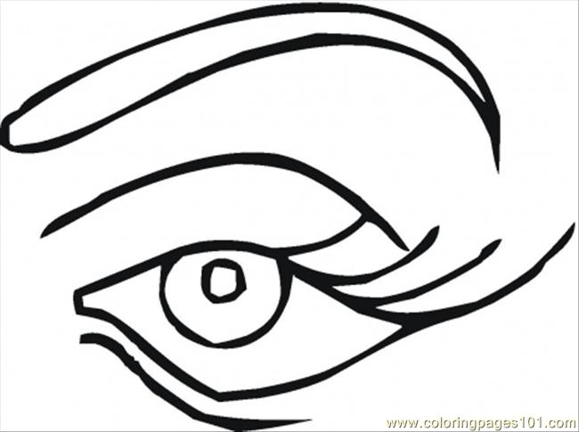 Human Eye Coloring Page Scary Eye Coloring Page Free Printable