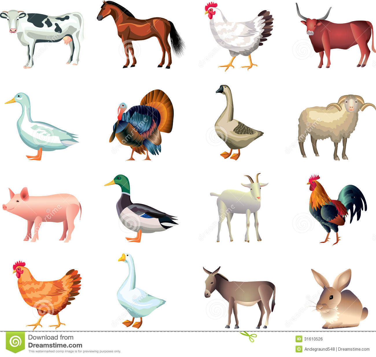 Realistic Farm Animal Clipart Clipart Panda