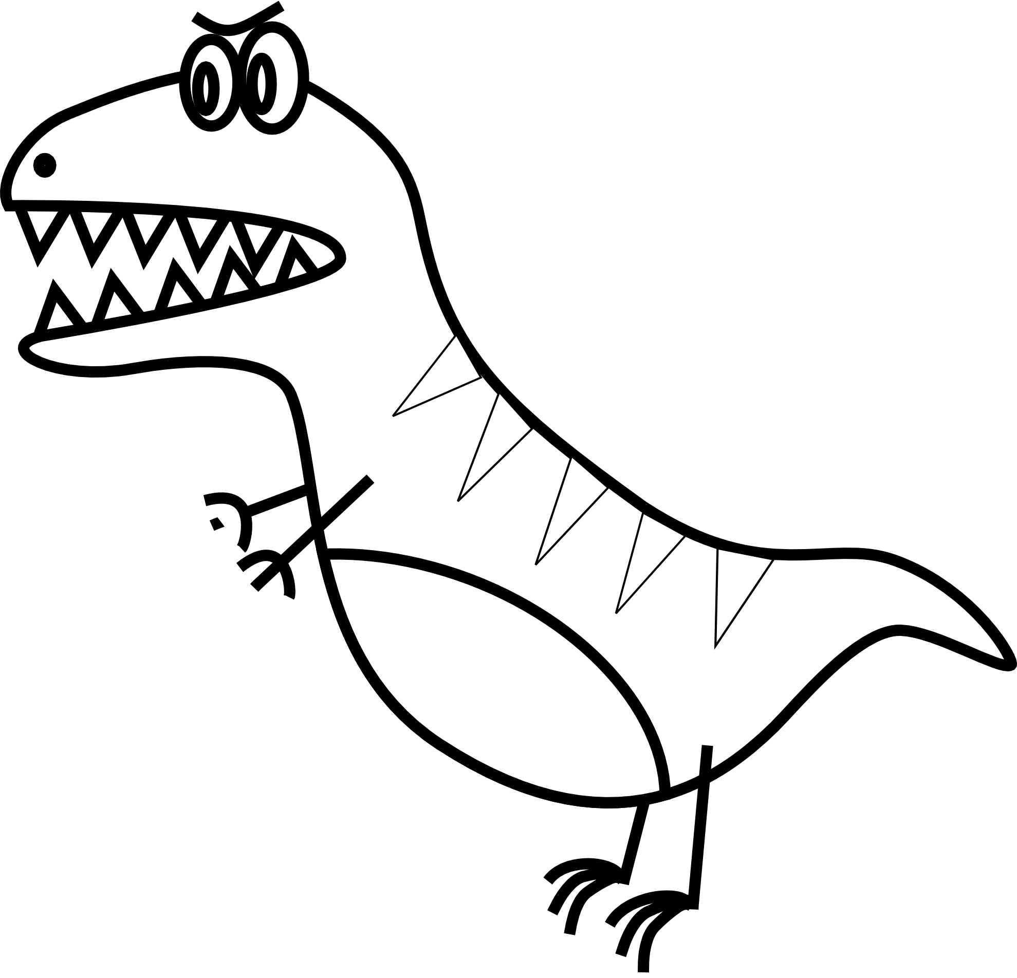 Baby Dinosaur Clipart Black And White