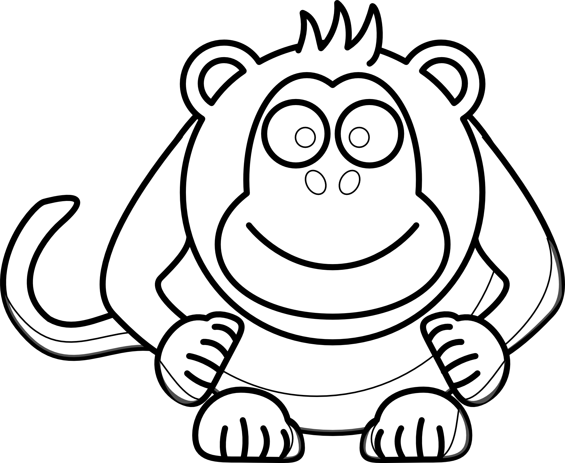 Baby Chimpanzee Clipart