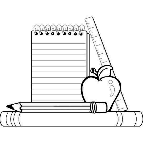 free coloring pages of school supplies cooloring com