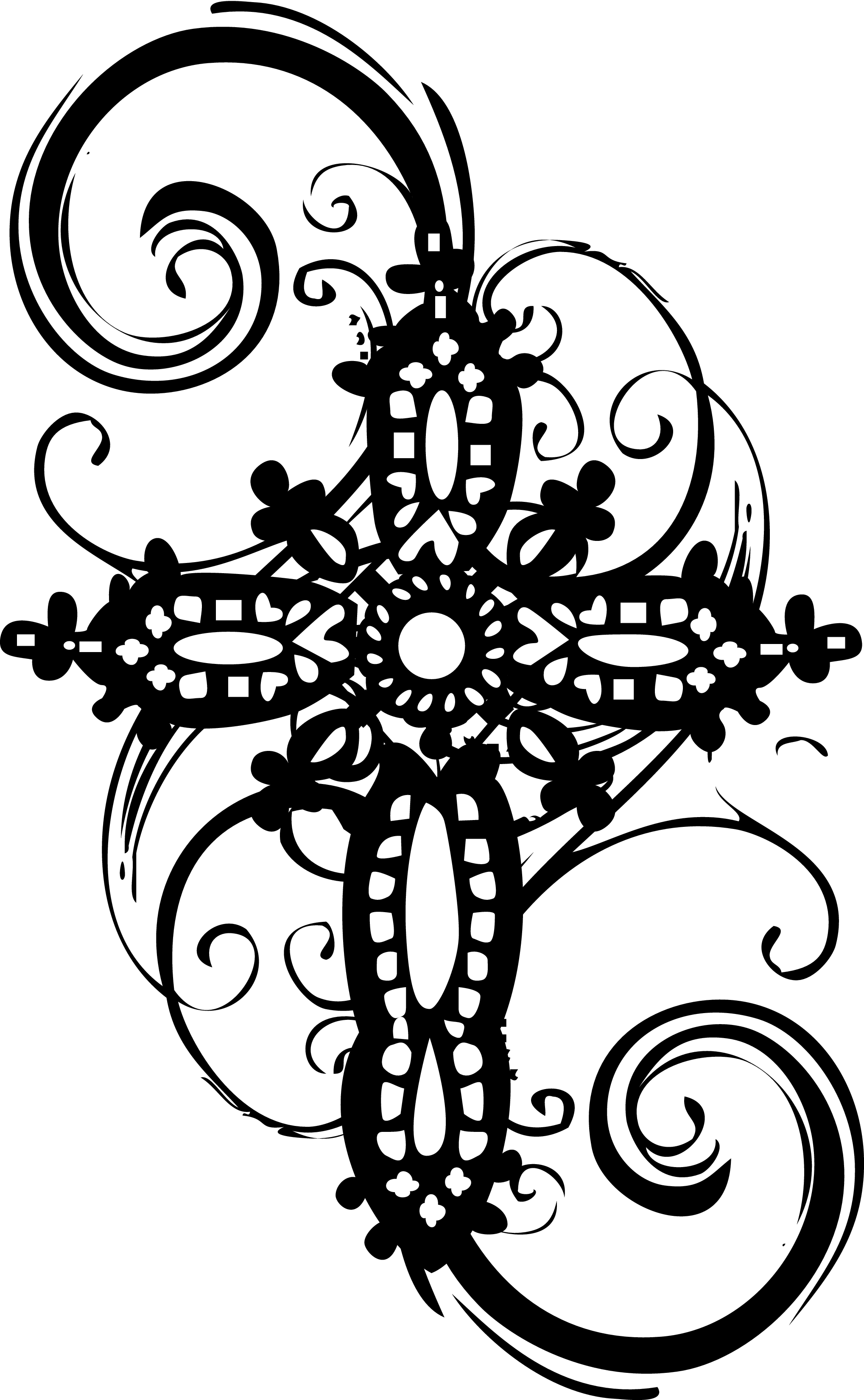 Baptism Cross Clipart Black And White