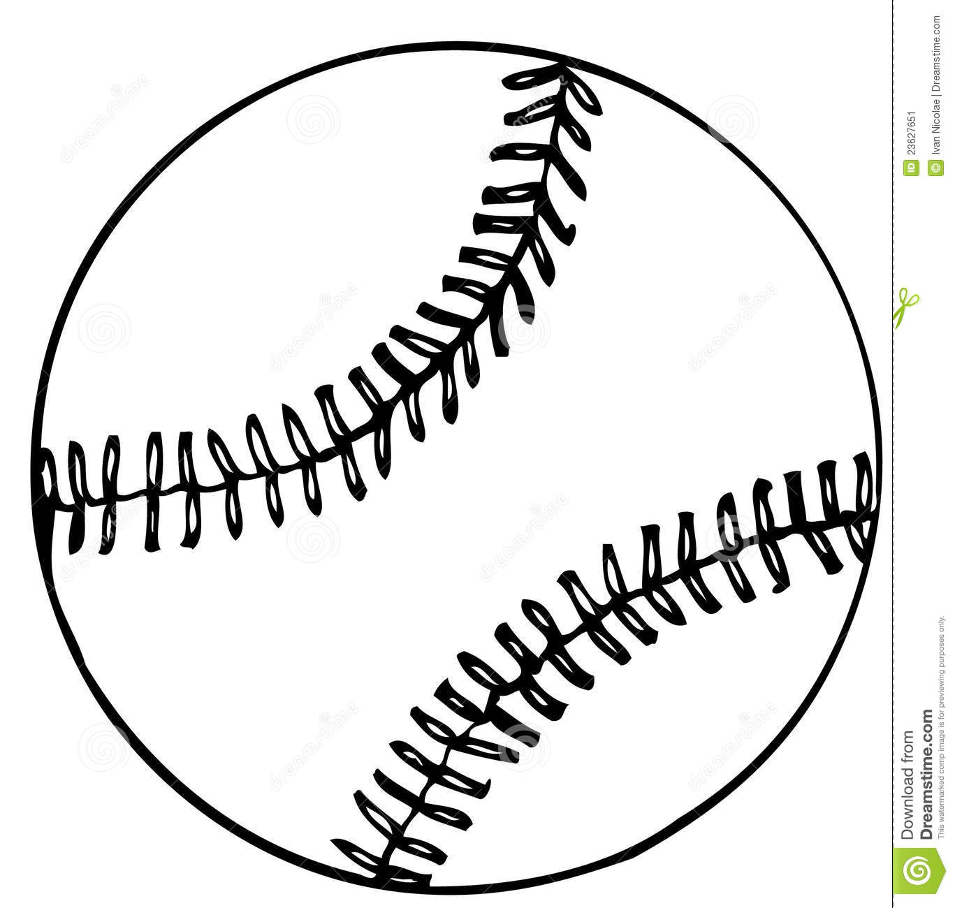 Baseball Ball Vector Clipart Panda