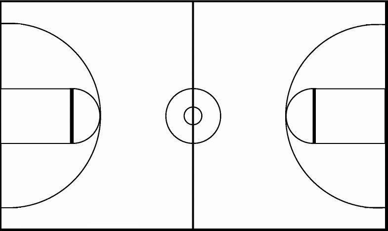 Half Court Basketball Diagram Print Outs
