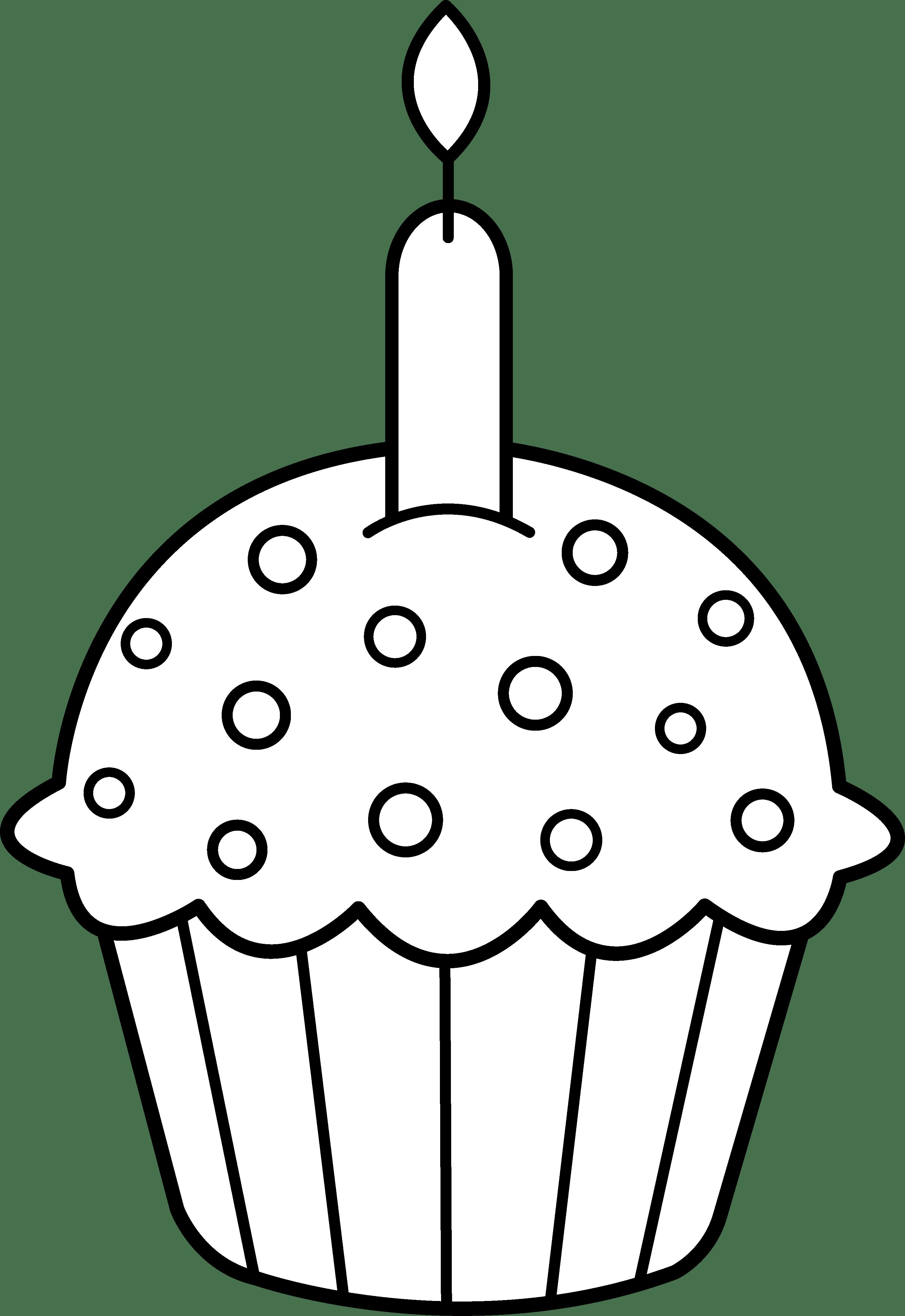 Cupcake Clipart Black And White Clipart Panda