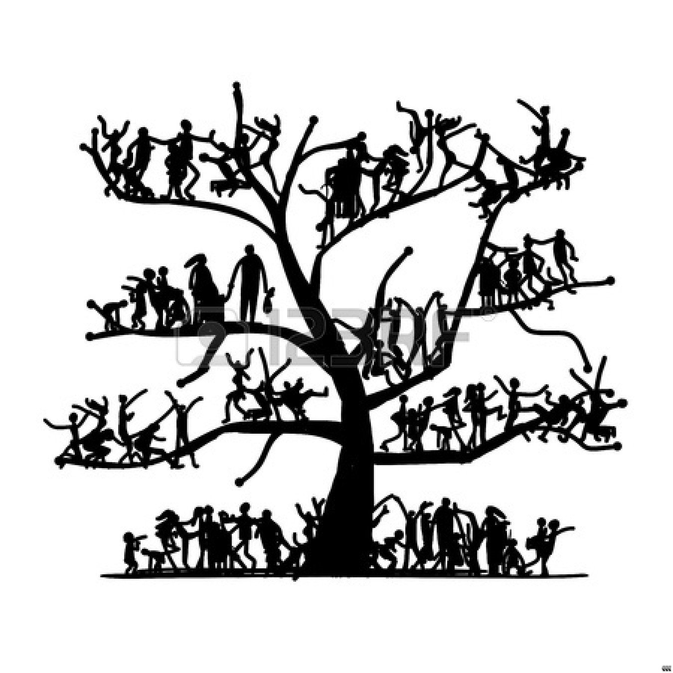 Family Tree Clipart Black And White Clipart Panda