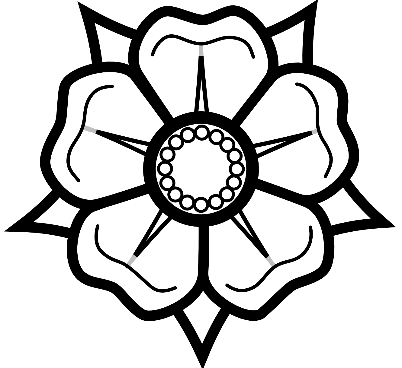 Black And White Flower Drawing Clipart Panda