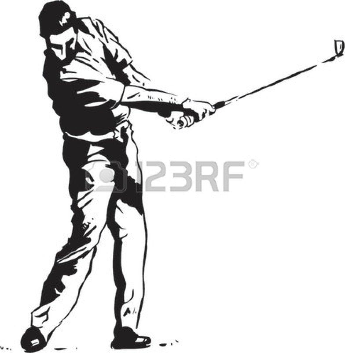 Golf Ball On Tee With Grass Clip Art