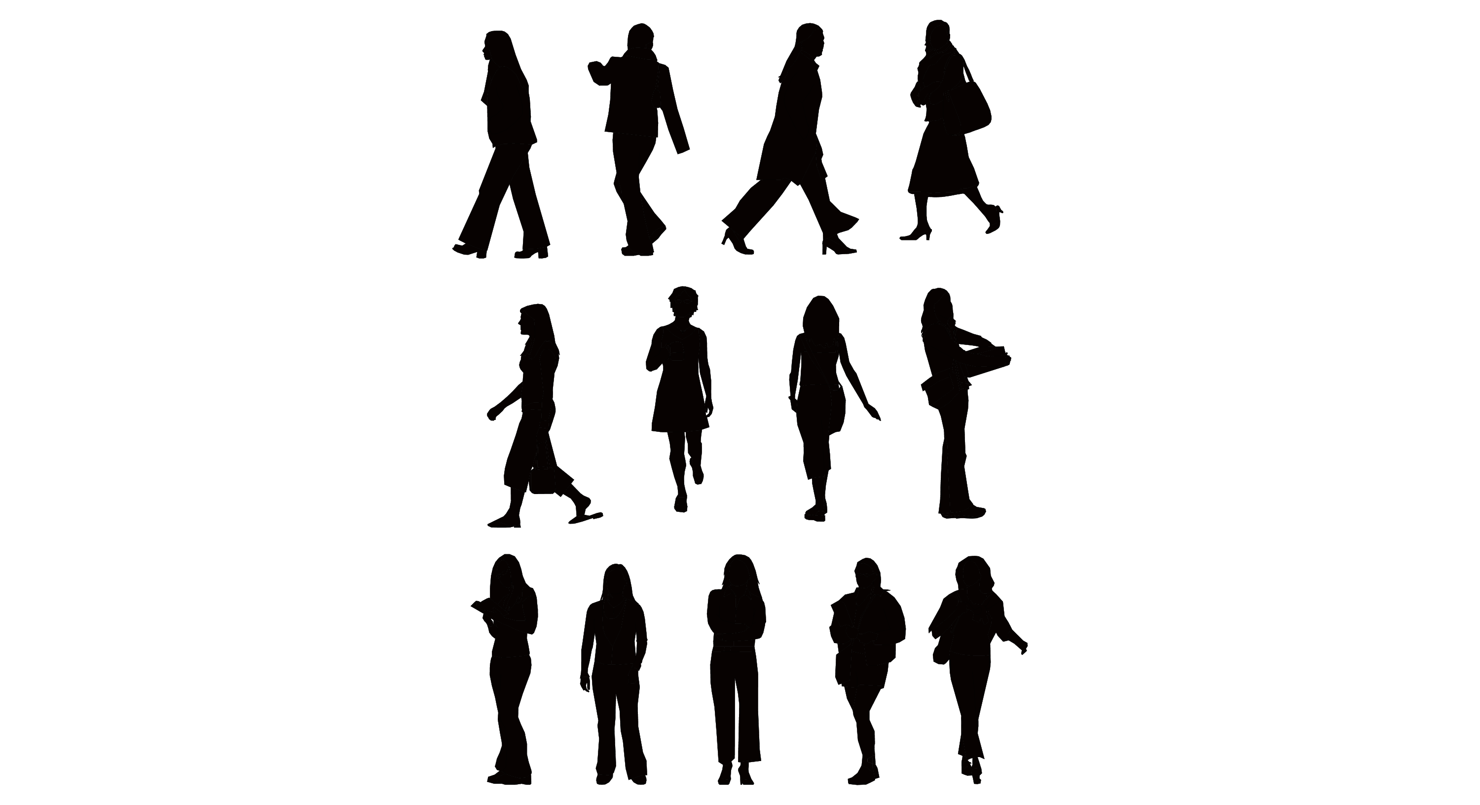 Business People Silhouette Clipart Panda