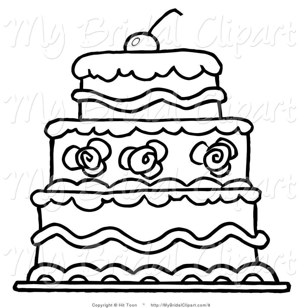 Elegant Wedding Cake Clip Art Clipart Panda