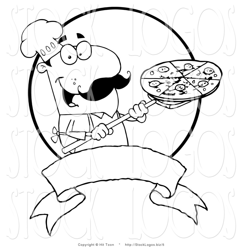 Cheese Pizza Black And White Clip Art