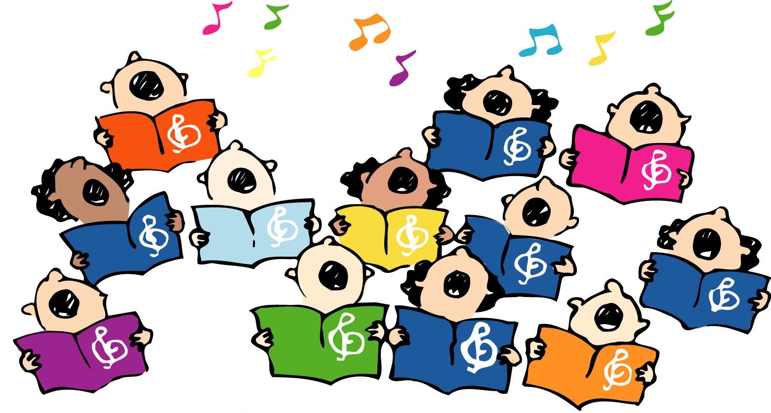Image result for kids singing clipart